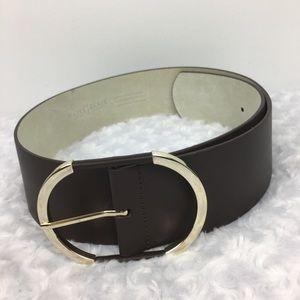 White House Black Market Black Leather Belt